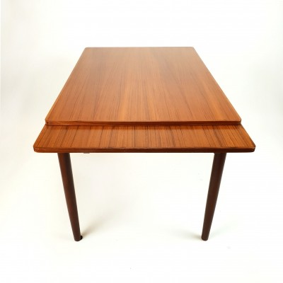 Mid Century Extandable Teak Dining Table, 1960s