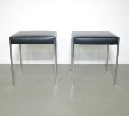 Set of 2 Gispen stools, 1960's