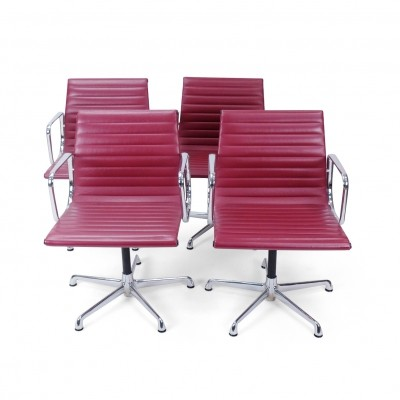 Set of 4 Vintage Eames EA108 Chairs by ICF Italy