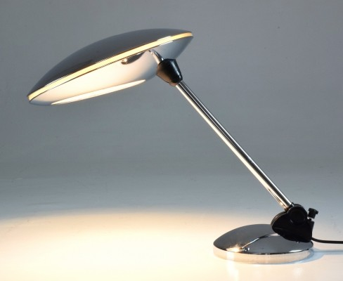 Spanish Vintage Chrome Desk Lamp by Fase, 1950's