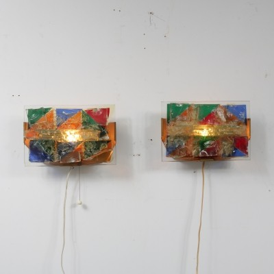 Pair of Raak Amsterdam wall lamps, 1950s