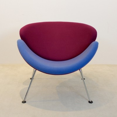 Pink & Blue F437 Orange Slice Chair by Pierre Paulin for Artifort