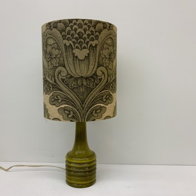 Vintage green ceramic table lamp, 1970's