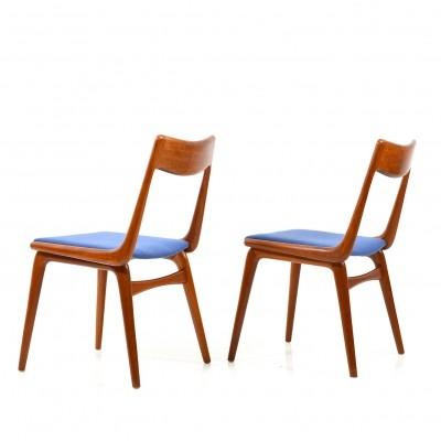 Pair of Boomerang Teak Chairs by Alfred Christensen