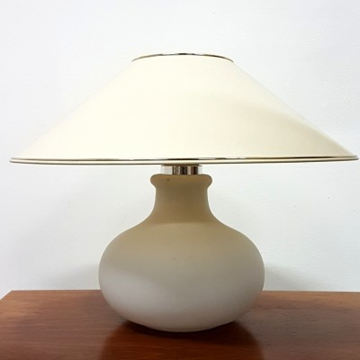 Opaline glass table lamp by Glashutte Limburg, 1960s