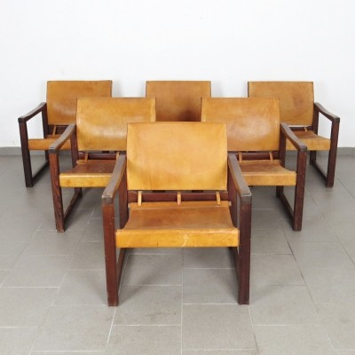 Set of 6 Safari arm chairs by Karin Mobring, 1970s