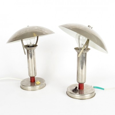 Pair of vintage desk lamps, 1930s