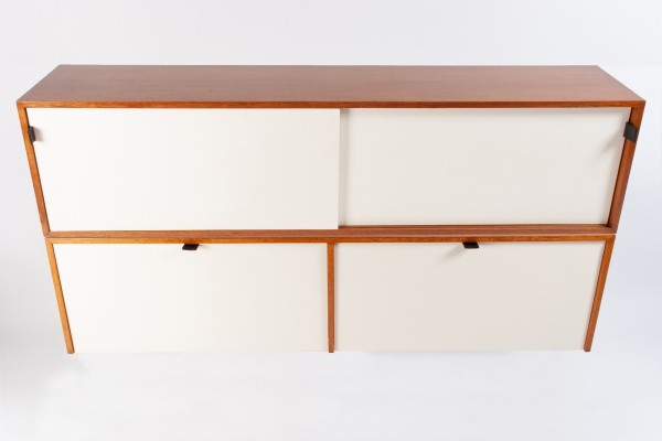 Set of Florence Knoll Hanging Cabinets Credenza (Drop Doors & Sliding Doors)
