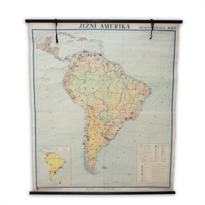 Czechoslovak school map of South America, 1960