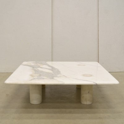 Rare Marble Coffee Table by Angelo Mangiarotti for Up & Up Editions, 1970s