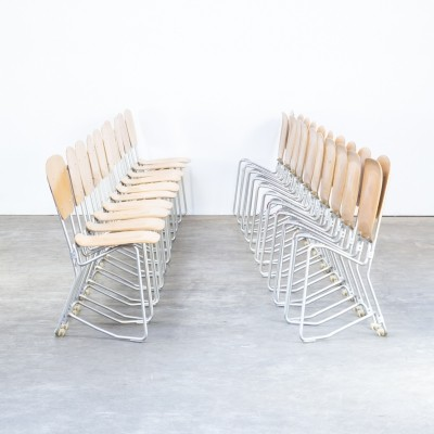 Set of 20 Armin Wirth 'aluflex' folding chairs for Hans Zollinger Sohre