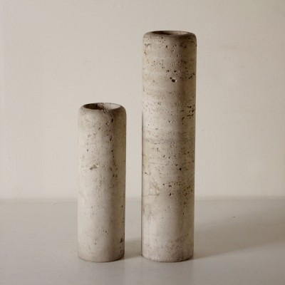 Pair of Vases in Marble, Italy 1960s-1970s