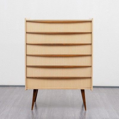 Rare two-toned chest of drawers, 1950s