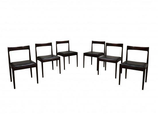Set of 6 Vintage dining chairs by Oswald Vermaercke, 1960s