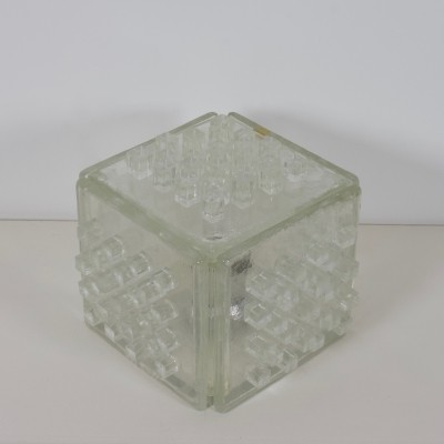 Rare Poliarte 'Apis' Table Lamp made of raw crystal, 1960s