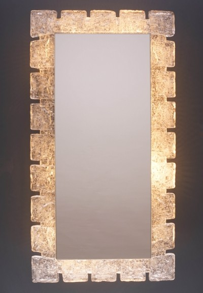 Vintage Illuminated Mirror by Hillebrand