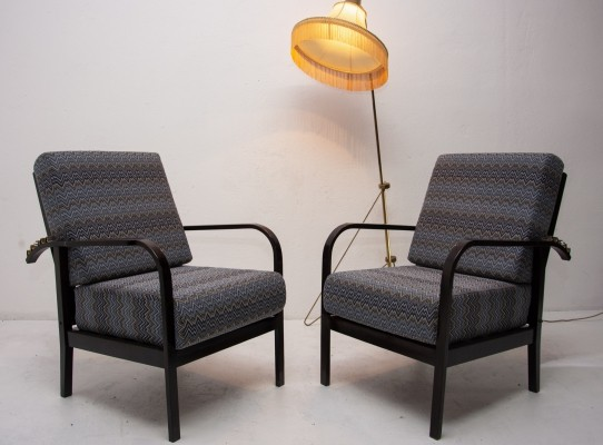 Art Deco adjustable armchairs by Jan Vaněk, 1940s
