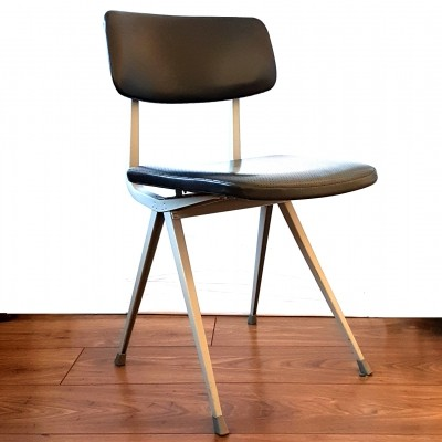 Result chair with vinyl upholstery by Friso Kramer for Ahrend de Cirkel