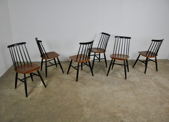 Set of 6 Fanett dinner chairs, 1960s