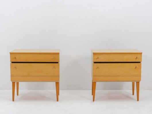 Pair of high gloss night stands, 1970s