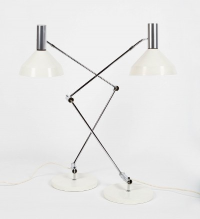 Pair of Type 60 Desk lamps designed by Rosmarie & Rico Baltensweiler in 1958