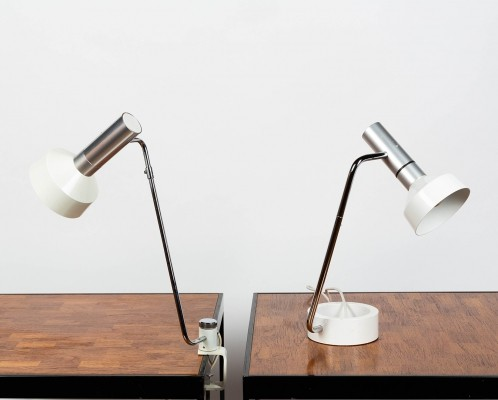 Pair of Minilux Desk lamps by Rosmarie & Rico Baltensweiler in 1965