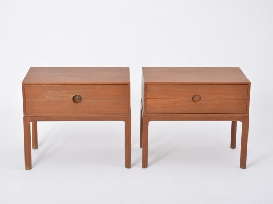 Set of 2 Teak Night Stands by Aksel Kjersgaard for Odder, 1955
