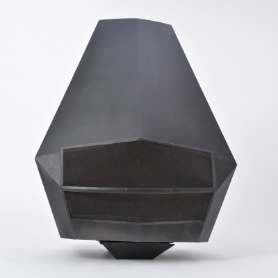 Mid Century Modern Steel Fireplace By Don Bar Design, Belgium 1970s