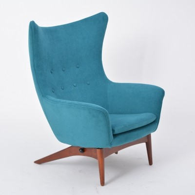 Model 207 Reclining Lounge Chair by H.W. Klein For Bramin