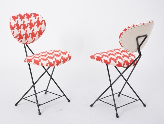 Set of 2 'F+T' chairs by Rob Parry, 1950s