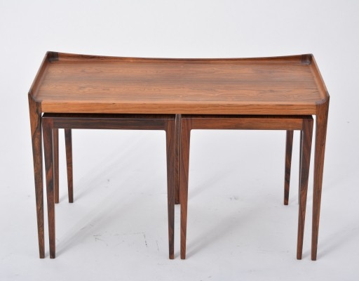 Nesting Tables in Rosewood by Kurt Ostervig for Jason Mobler
