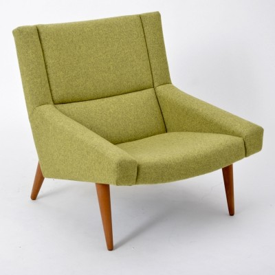 Mid Century Danish Model 50 Lounge Chair By Illum Wikkelso For Soeren Willadsen