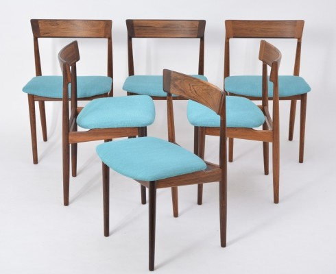 Model 39 Dining Chairs By Henry Rosengren Hansen for Brande Møbelfabrik, 1960s