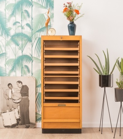 German roller shutter cabinet from the 1950s