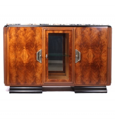 Walnut art Deco Sideboard by Guerin