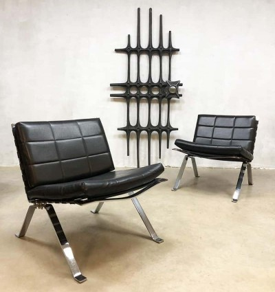Vintage 'Model 600' Madmen style lounge chairs by H. Eichenberger for Girsberger, 1960s