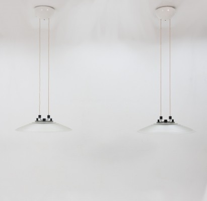 Pair of Peill & Putzler hanging lamps, 1970s