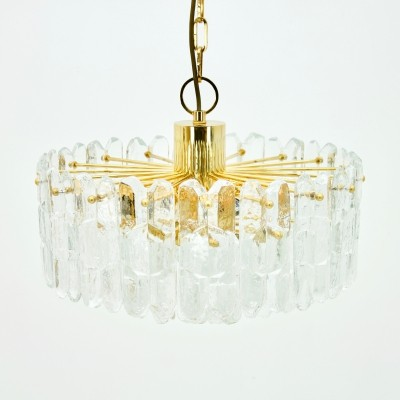 Kalmar 'Palazzo' Chandelier in Gilt Brass & Glass, Austria 1970s