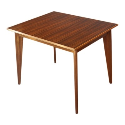 Walnut extendible dining table by Morris Of Glasgow, 1950s
