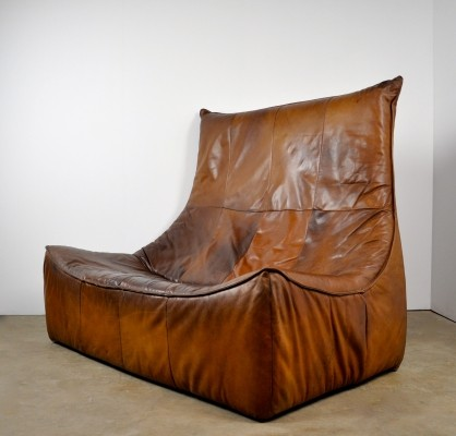 Leather 'Rock' Sofa by Gerard van den Berg for Montis, 1970s
