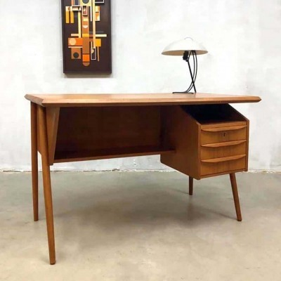 Writing desk by G. Tibergaard for Gunnar Nielsen Tibergaard, 1950s