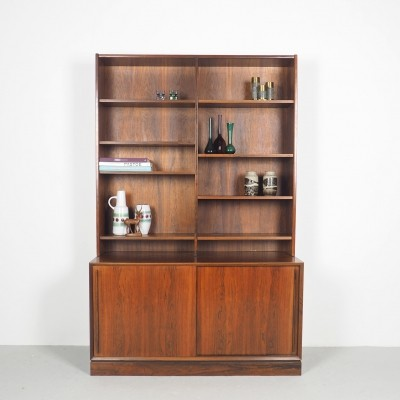 H.P. Hansen rosewood sideboard with bookcase, 1960's