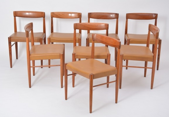 Set of eight rosewood dining chairs by Henry Walter Klein for Bramin Möbler