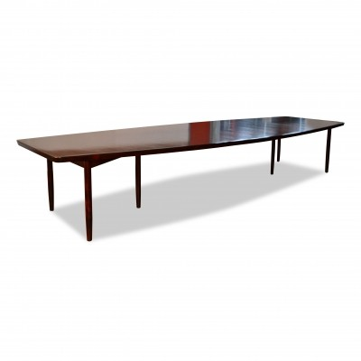 Extemely large Danish design palisander conference table