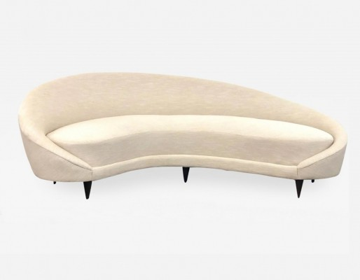 Large Virgola sofa designed by Federico Munari, 1950s