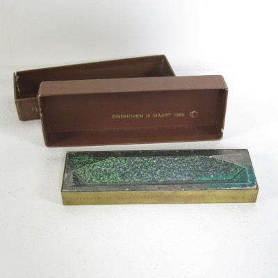 Pen-tray by Gio Ponti with the original box 'Bijenkorf Eindhoven in 1969'