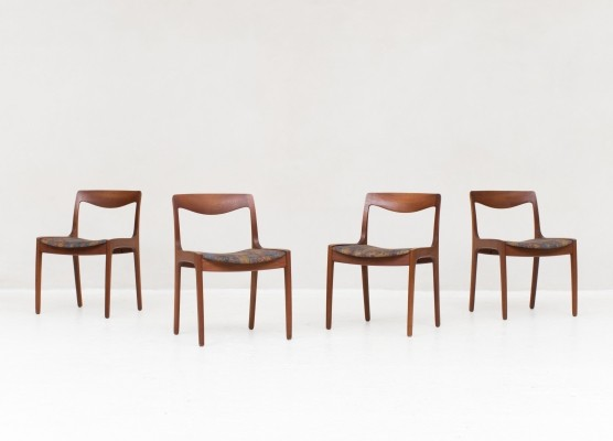 4 dining chairs by Wilhelm Volkert for Poul Jeppesen