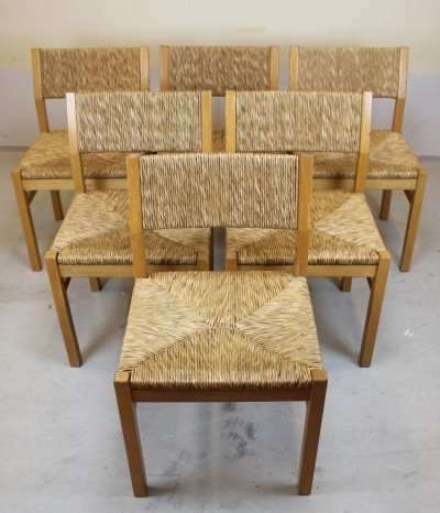 Set of 6 SB4200 dining chairs by Pastoe, 1970s