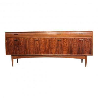 Rosewood & afromosia vintage 1960s sideboard by White & Newton