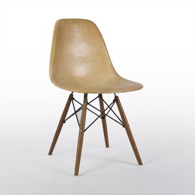Parchment Zenith Original Vintage Eames DSW Dining Side Shell Chair